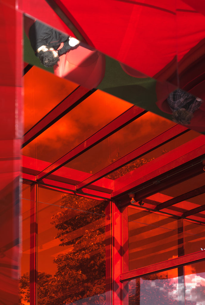 Stock Photo: 1801-64510 Serpentine Summer Pavilion 2010 Jean Nouvel With Arup Detail Of Structure