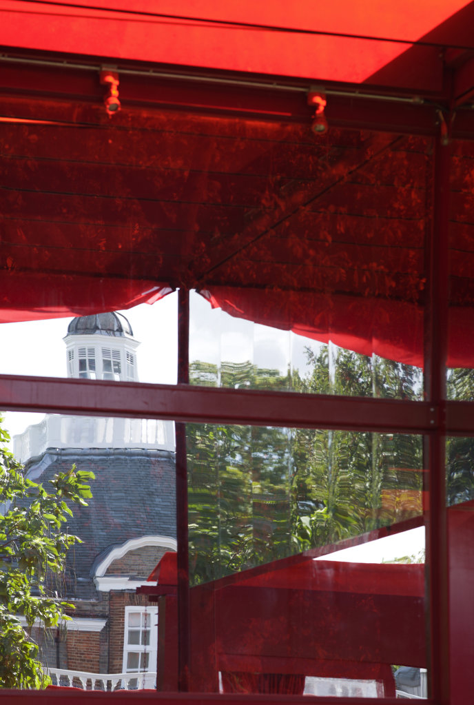 Stock Photo: 1801-64514 Serpentine Summer Pavilion 2010 Jean Nouvel With Arup Detail Of Structure