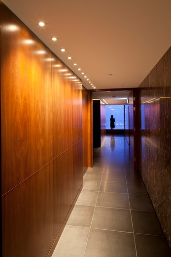 Stock Photo: 1801-66002 A Corridor Leading To The Private Dining