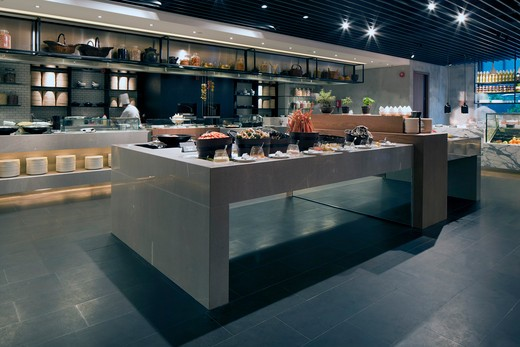 Stock Photo: 1801-66021 The Market Restaurant, Assorted Food Counter