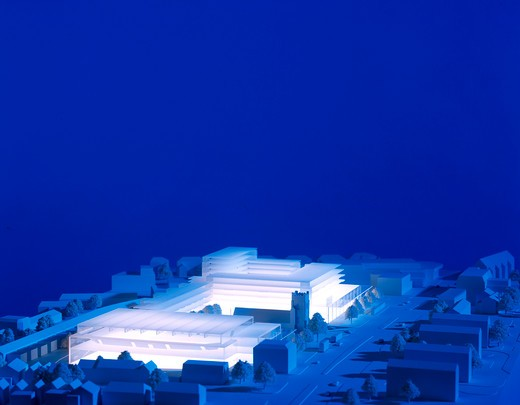 Stock Photo: 1801-66380 Tesco Icerink Development Model View From South East