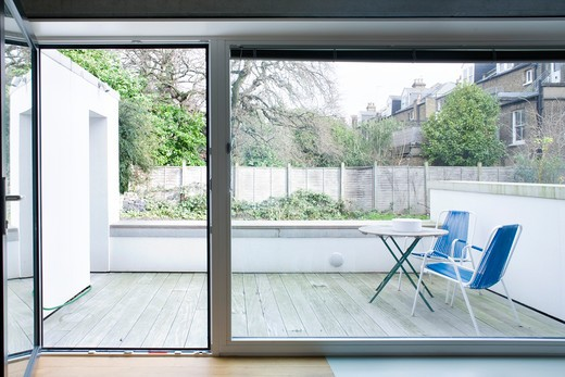 Stock Photo: 1801-66569 Zog House, Groves Natcheva Architects, London, 2010, French Windows And Patio