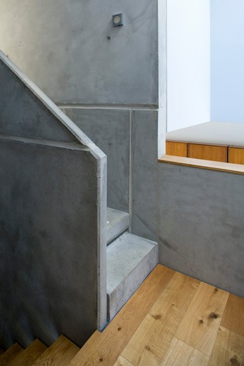 Stock Photo: 1801-66574 Zog House, Groves Natcheva Architects, London, 2010, Stairs