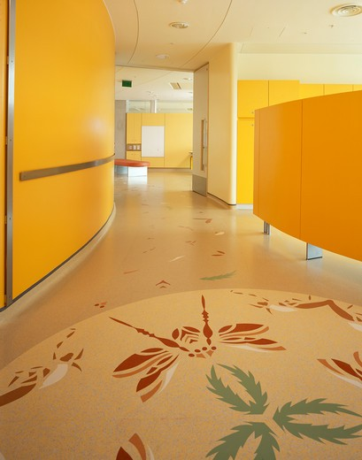 Stock Photo: 1801-66793 Evelina Childrens Hospital Interior - Abstract Painting On The Floor