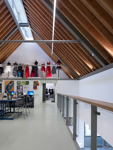 Stock Photo: 1801-68294 Art Area And Fashion Display  King'S School Ely  By Orms Architecture Design