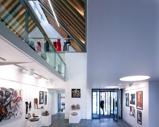 Stock Photo: 1801-68299 Entrance Area And Art Gallery  King'S School Ely  By Orms Architecture Design