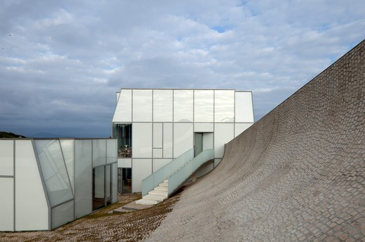 Stock Photo: 1801-68880 Sea And Surf Museum Designed By Steven Holl And Solange Fabiao, Plaza