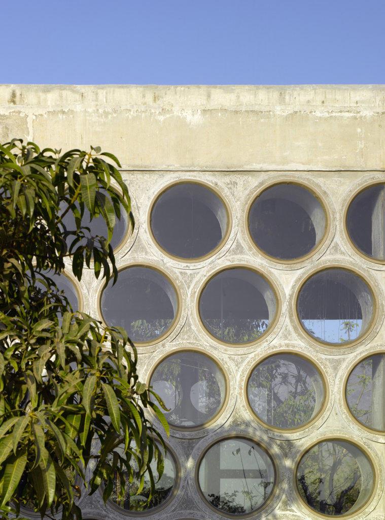 The Broacha House By Samira Rathod Design Associates (Srda)  Alibaug  Maharashtra  India-Detail Of Window ''Lenses'' : Stock Photo