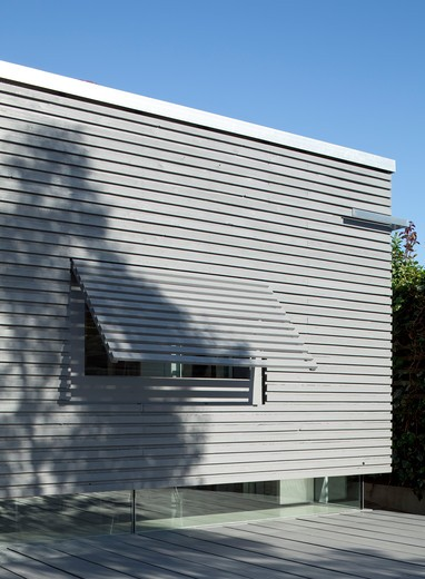 Stock Photo: 1801-70294 Suburban Studio, Ashton Porter Architects, London, 2011, Corner Detail With Shadows