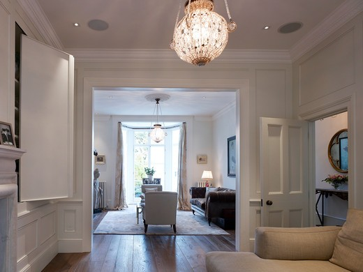 Living Area - Refurbished Victorian Family London Town House In Notting Hill : Stock Photo
