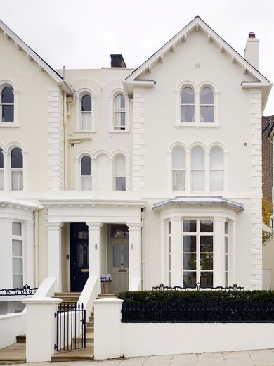 Stock Photo: 1801-70486 Street Elevation - Refurbished Victorian Family London Town House In Notting Hill