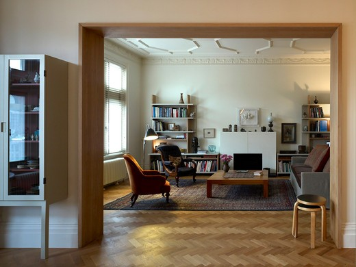 Living Room - Refurbished Apartment In Central London : Stock Photo