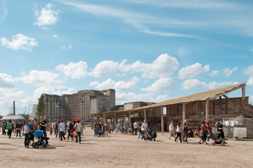 London Pleasure Gardens Bar, London, United Kingdom. Architect An-Architecture, 2012. General view. : Stock Photo