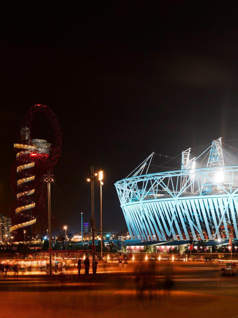 Olympic Stadium, London Olympics 2012, Stadium, Europe, United Kingdom,2012, Populous . Exterior. : Stock Photo
