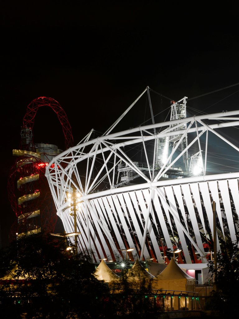 Stock Photo: 1801-73804 Olympic Stadium, London Olympics 2012, Stadium, Europe, United Kingdom,2012, Populous . Exterior.