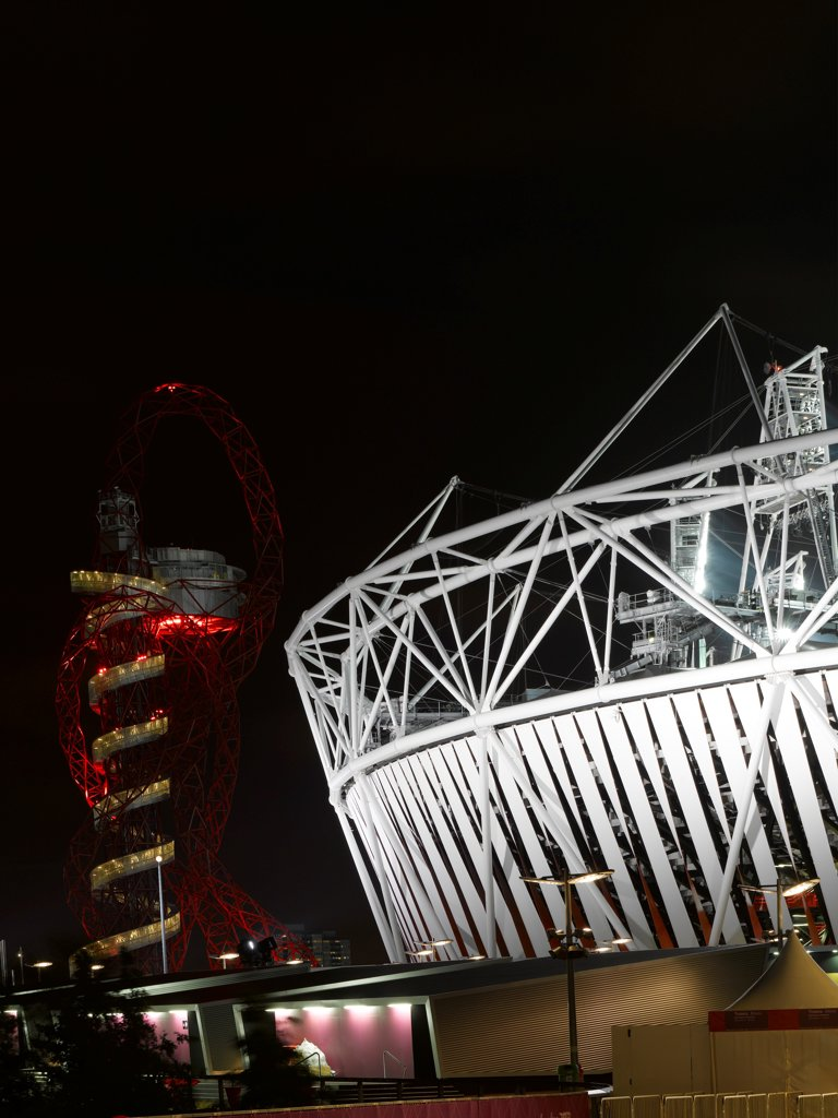 Olympic Stadium, London Olympics 2012, Stadium, Europe, United Kingdom,2012, Populous . Exterior. : Stock Photo