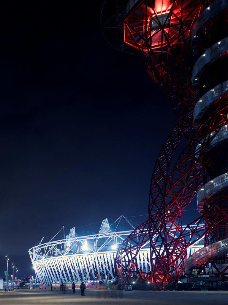 Stock Photo: 1801-73807 Olympic Stadium, London Olympics 2012, Stadium, Europe, United Kingdom,2012, Populous . Exterior.