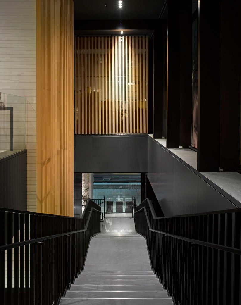 Stock Photo: 1801-74262 George Jenson Store, Tokyo, Japan. Architect: MPA Architects, 2012. Interior view on staircase.