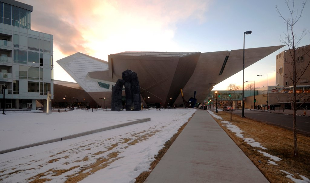 Stock Photo: 1801-74418 Extension to the Denver Art Museum, Frederic C. Hamilton Building, Denver, United States. Architect: Daniel Libeskind, 2006. External view.