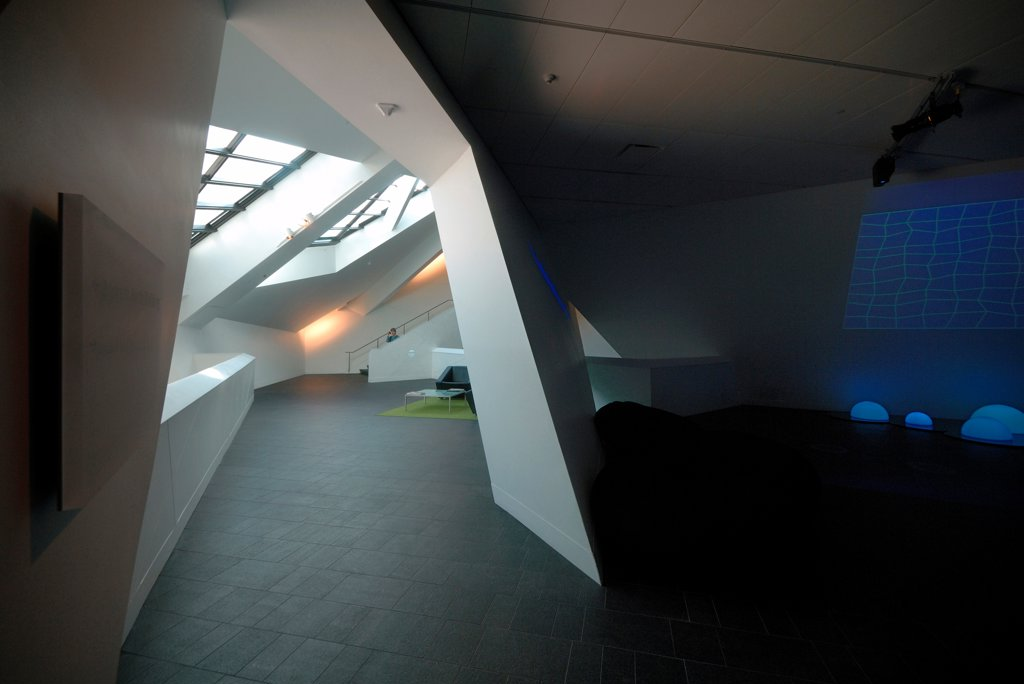Stock Photo: 1801-74429 Extension to the Denver Art Museum, Frederic C. Hamilton Building, Denver, United States. Architect: Daniel Libeskind, 2006. Interior view.