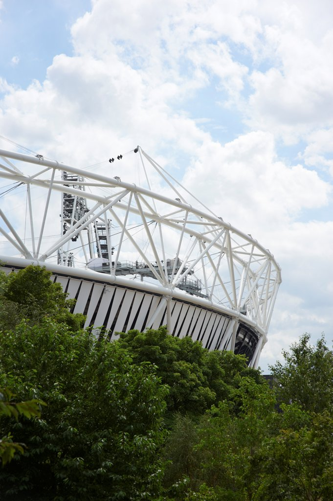 Stock Photo: 1801-74503 Olympic Stadium, London Olympics 2012, London, United Kingdom. Architect: Populous , 2012. Exterior.