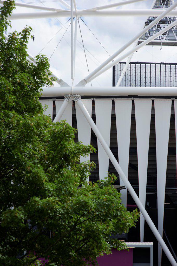 Stock Photo: 1801-74505 Olympic Stadium, London Olympics 2012, London, United Kingdom. Architect: Populous , 2012. Exterior.