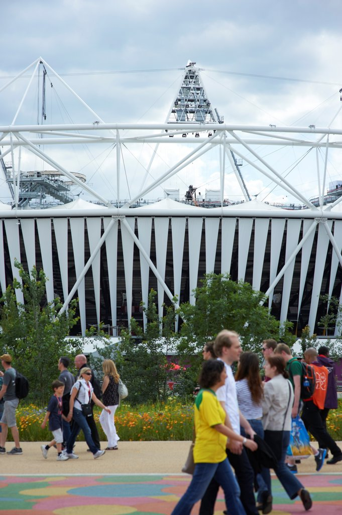 Stock Photo: 1801-74507 Olympic Stadium, London Olympics 2012, London, United Kingdom. Architect: Populous , 2012. Exterior.