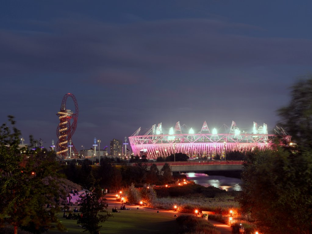 Stock Photo: 1801-74518 Olympic Stadium, London Olympics 2012, London, United Kingdom. Architect: Populous , 2012. Exterior.
