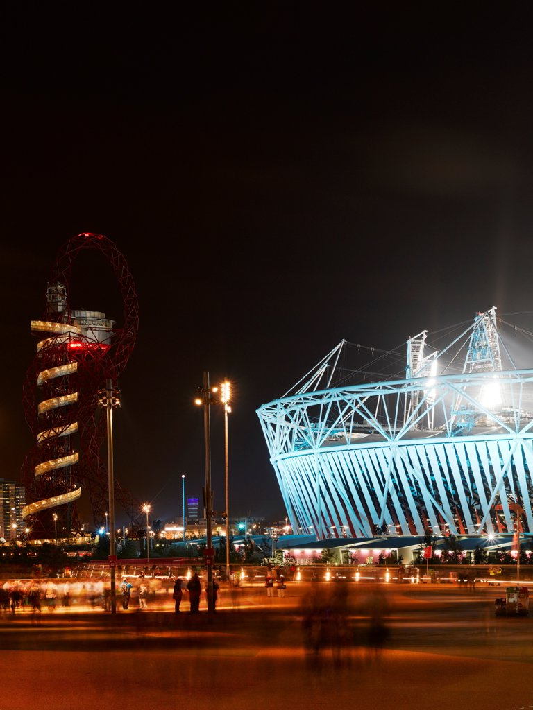 Olympic Stadium, London Olympics 2012, London, United Kingdom. Architect: Populous , 2012. Exterior. : Stock Photo