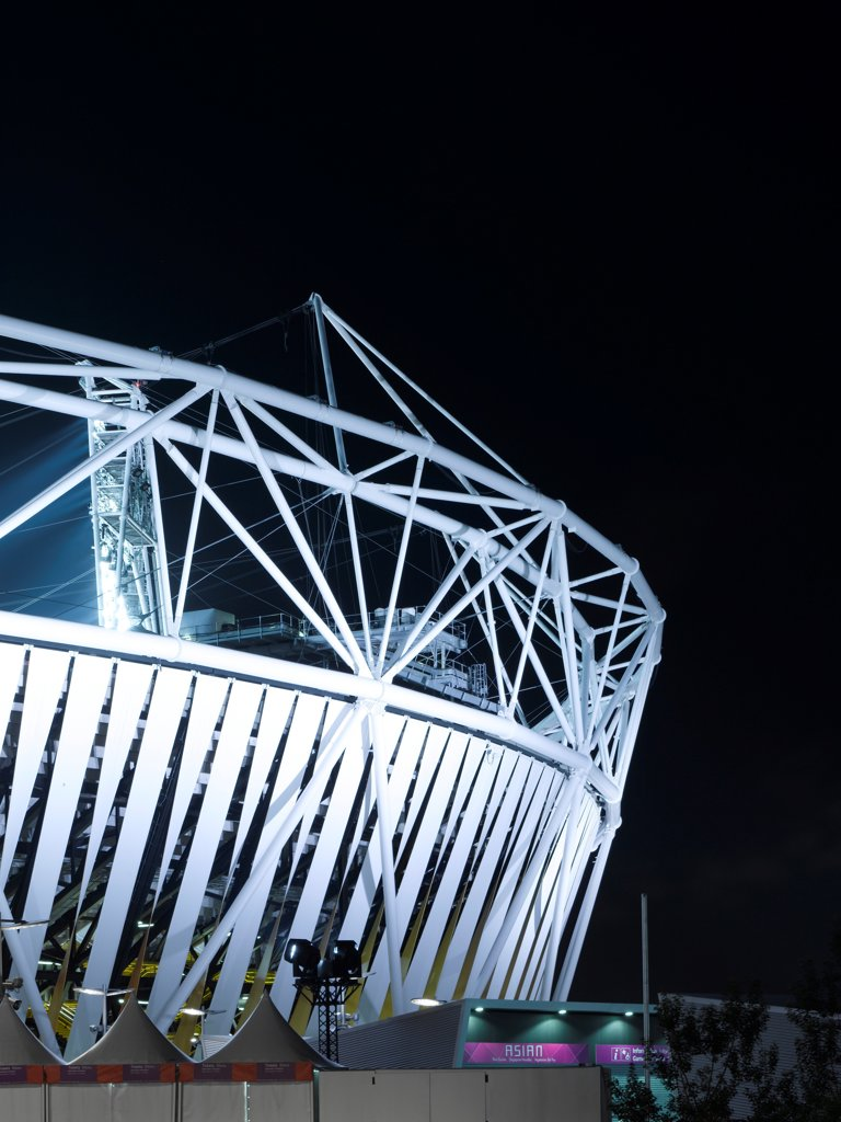 Stock Photo: 1801-74523 Olympic Stadium, London Olympics 2012, London, United Kingdom. Architect: Populous , 2012. Exterior.