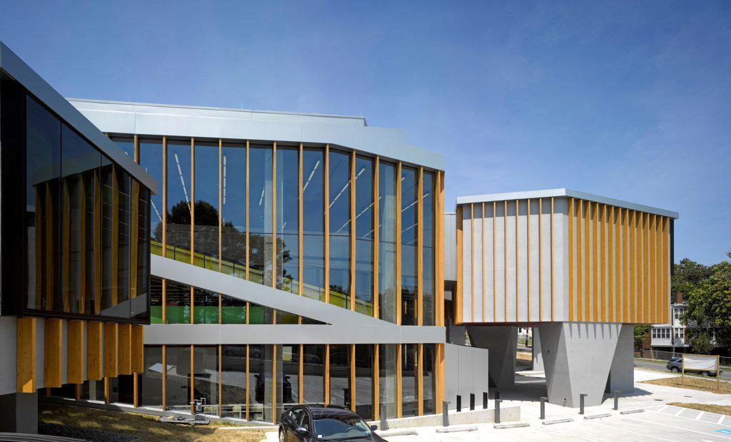 The William O. Lockridge/Bellvue Library, Washington, United States. Architect: Adjaye Associates, 2012. Side view. : Stock Photo