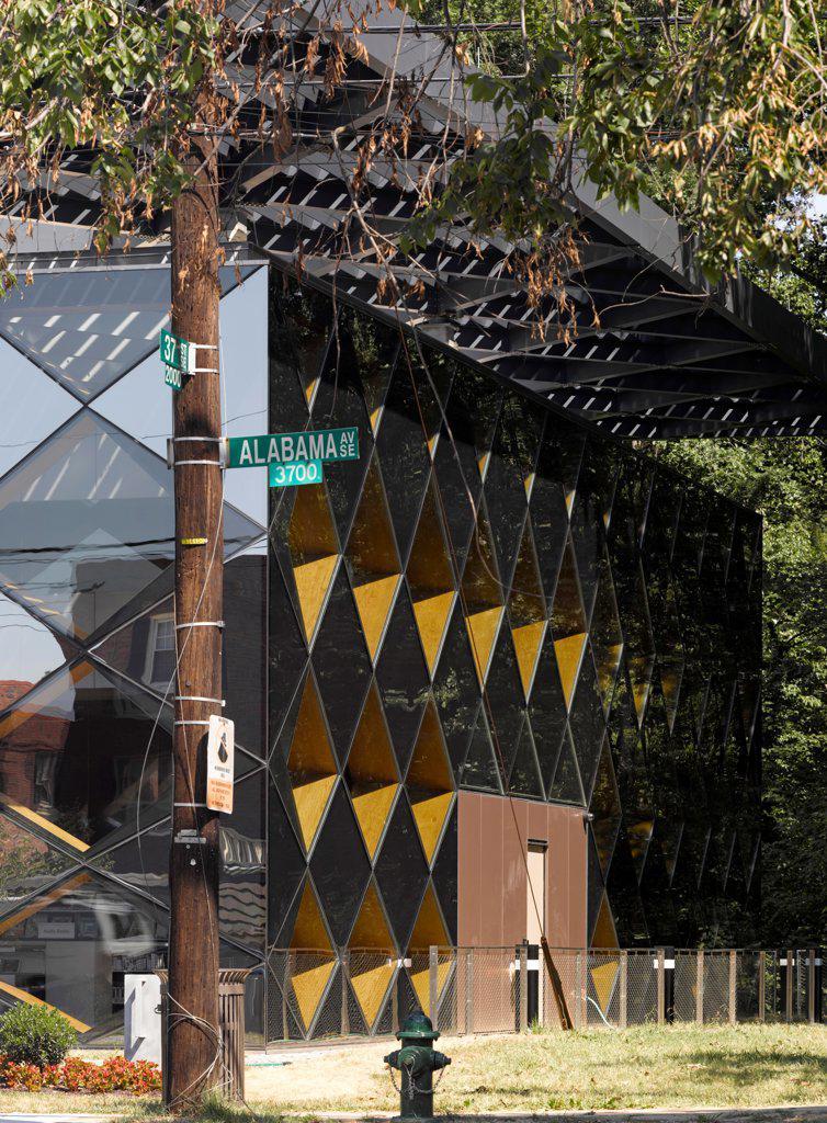 The Francis Gregory Library, Washington, United States. Architect: Adjaye Associates, 2012. Facade detail. : Stock Photo