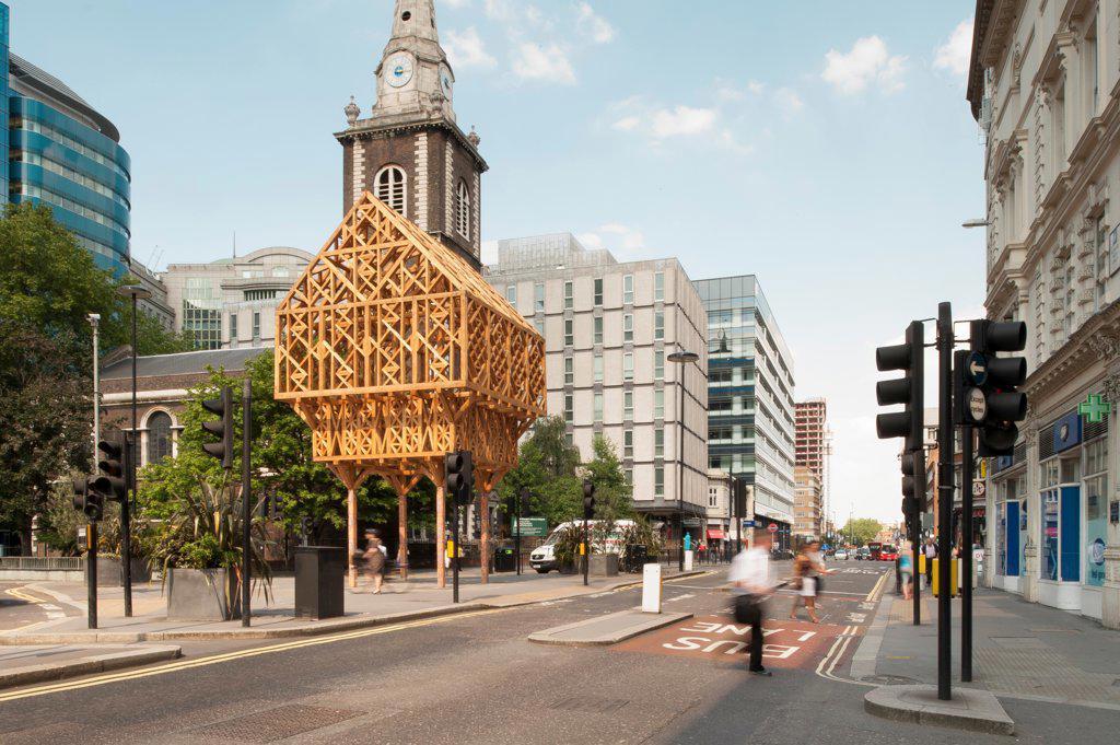 Paleys Upon Pilers, London, United Kingdom. Architect: Studio Weave, 2012. Street view. : Stock Photo