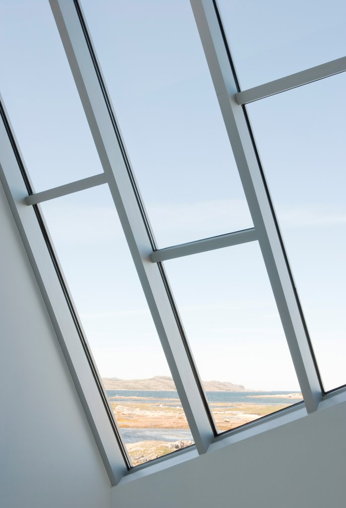 Stock Photo: 1801-77333 Tower Studio, Fogo Island, Canada. Architect: Todd Saunders, 2011. Interior view.
