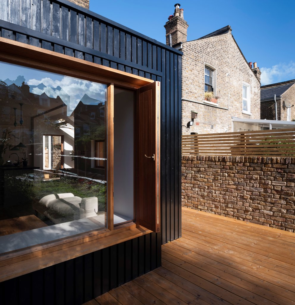 Stock Photo: 1801-79525 Victoria Road Private Home, London, United Kingdom. Architect: Ob-A, 2012. External View Of Box Window.