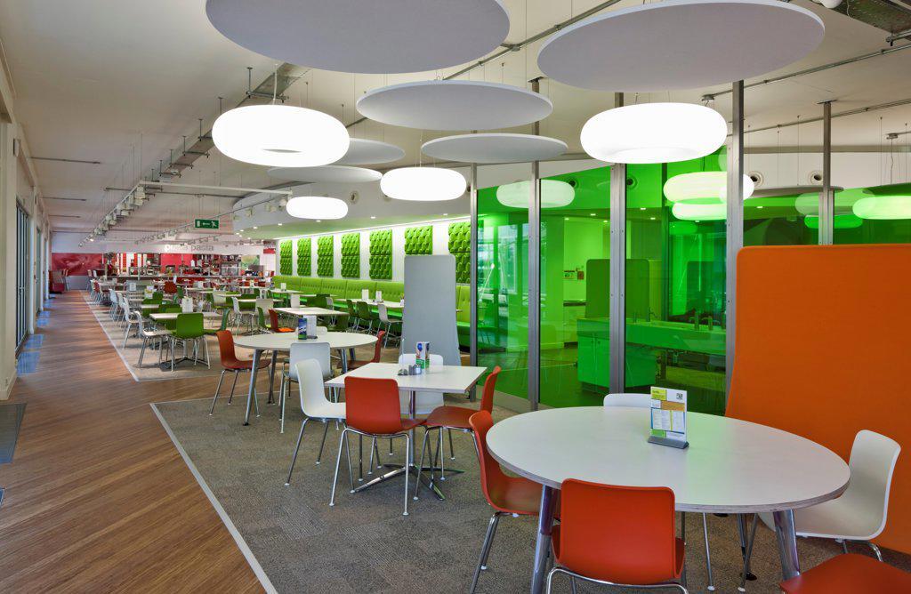 Stock Photo: 1801-79700 The Quadrant:Mk, Milton Keynes, United Kingdom. Architect: Gmw Architects, 2012. Restaurant.