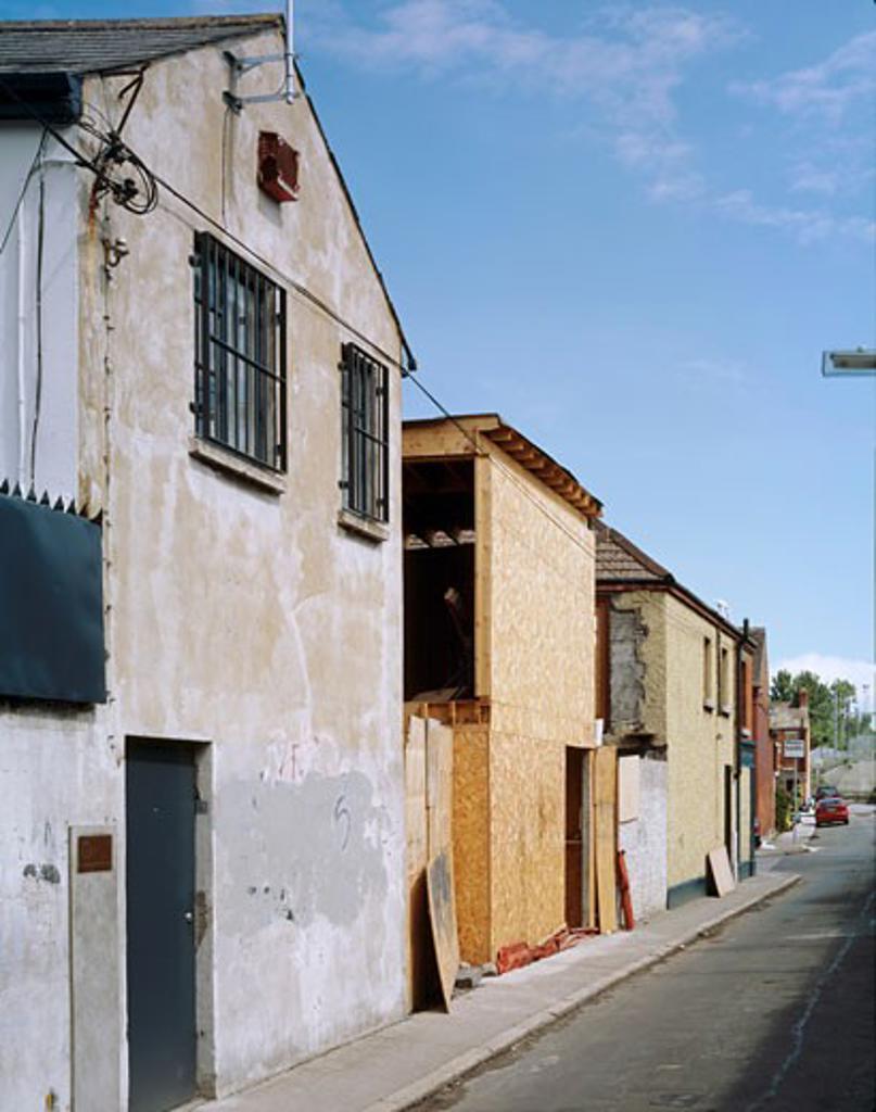 Stock Photo: 1801-8300 STONEY HOUSE, STONEY ROAD, DUBLIN, IRELAND, STONEY ST VIEW, DE PAOR ARCHITECTS