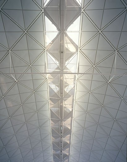 Stock Photo: 1801-9950 CHEK LAP KOK, HONG KONG INTERNATIONAL AIRPORT, HONG KONG, HONG KONG, FOSTER AND PARTNERS