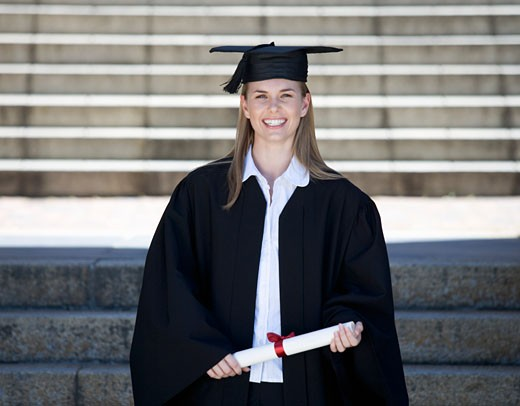 Portrait of a graduate : Stock Photo