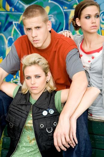 Stock Photo: 1804R-11870 Three teenage friends