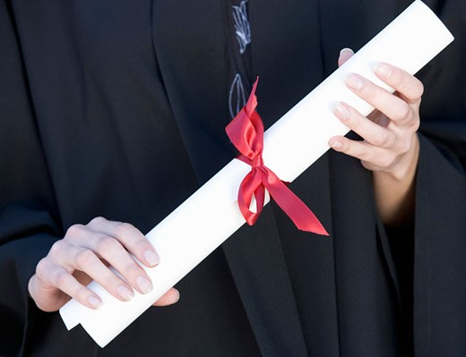 Stock Photo: 1804R-13087 A graduate, close-up