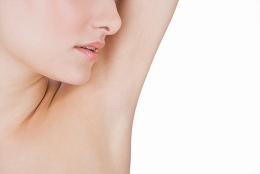 Stock Photo: 1804R-20666 A young woman's armpit, close-up