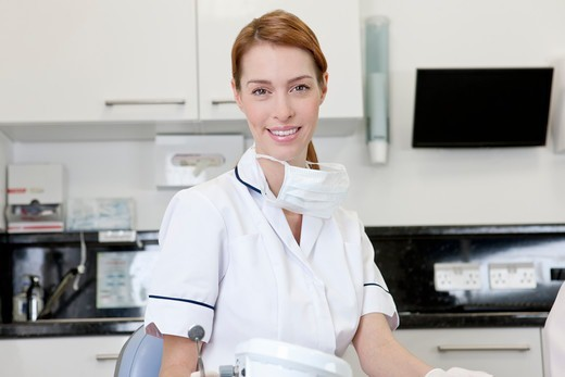 A female dentist in a dental surgery : Stock Photo