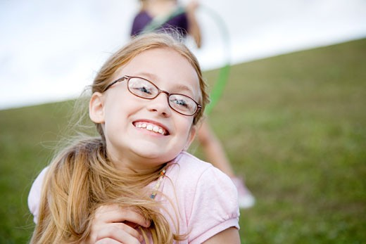 Stock Photo: 1804R-2726 A young girl playing