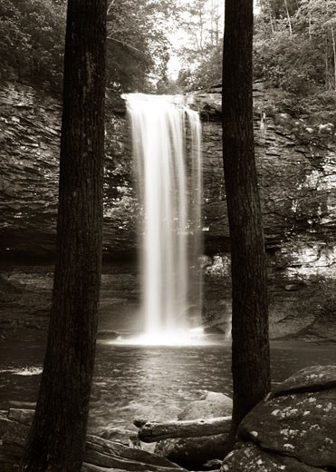 Stock Photo: 1805-197 Waterfall John Kuss (b.20th C. American) Photograph