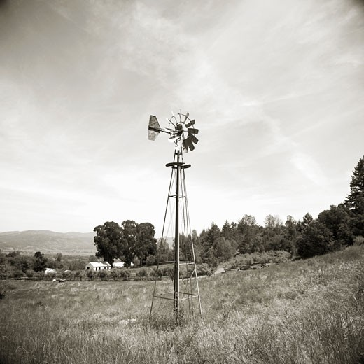 Stock Photo: 1805-212 Windmill by John Kuss, Photograph