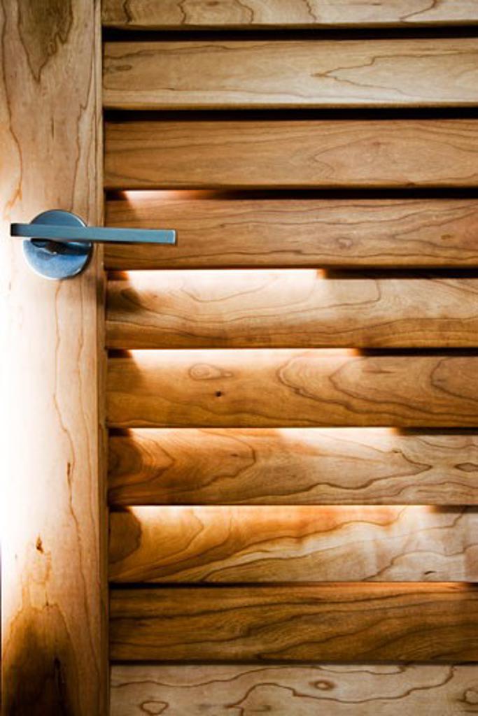 Modern Wood Shutter Door : Stock Photo