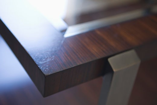 Stock Photo: 1806R-5672 Detail of a coffee table corner (close up)