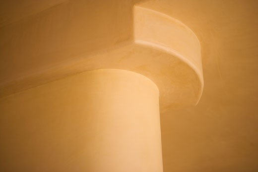Detail of a pillar and ceiling : Stock Photo