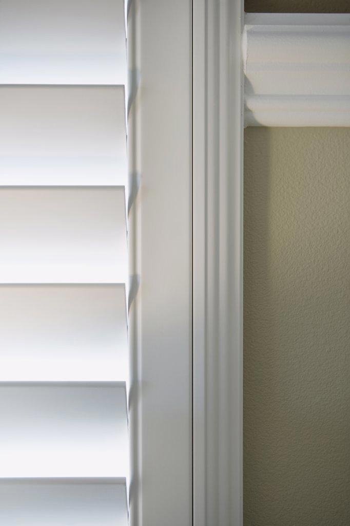 Vinyl shutter blinds : Stock Photo